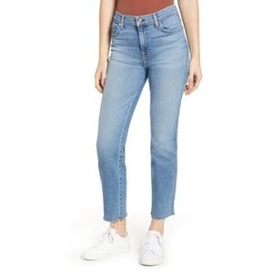 7 For all Mankind Edie high waisted raw hem jeans